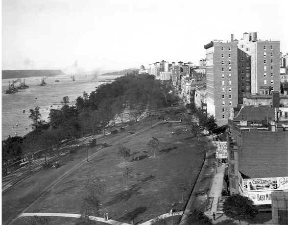 Riverside Park north from 100th St. in 1908