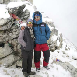 Teresa Elwert and Everest Companions