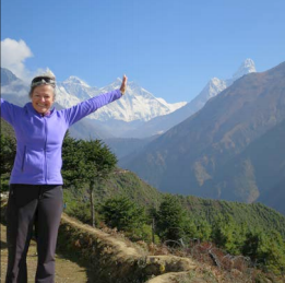 Teresa Elwert and Mount Everest